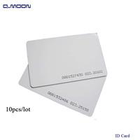 kart okuyucuları erişim toptan satış-Standart boyutu kimlik kartı hassasiyeti RFID 125 khz erişim kontrolü için fabrika şirket personel pvc kart okuyucu 64bit