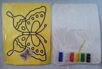 Wholesale Color Sand Art Painting Kits - Wholesale- 200pcs lot,diy toys, Color Sand painting set kit for children 21*15cm mixed designs Japanese Sand Art Sunae