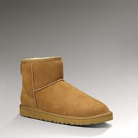 zapatos de chocolate caliente al por mayor-Venta caliente de las mujeres australianas Snow Boost Ug Women Snow Boots 100% cuero genuino de cuero de vaca Botines Warm Winter Boots Woman Shoe
