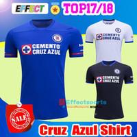Wholesale Thailand Jerseys - 2017 Thailand Quality Liga MX Cruz Azul Home Blue Away White Black Soccer Jerseys 17 18 Best Quality GIMENEZ CROSAS ROJAS Football Shirts
