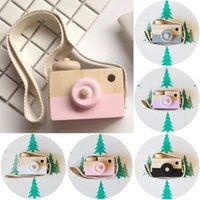 Wholesale Cute Boys Photos New - Cute New 2017 Wood Camera Toys For Children Kids Room Decoration Newborn Baby Photography Props 5Colors Camera Toy Take Photo