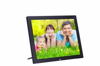 Wholesale 15 Digital Picture Frames - Wholesale-2016 New 15 inch 1024*768 LED screen high-definition 4:3 digital photo frame Picture Music Video free shipping