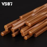 Wholesale Chinese Bamboo Chopsticks - Wholesale- 5 Pairs Chinese Chopsticks Handmade Carbonized Bamboo Household Fresh Modern Style Travelling Tableware Utensils Chopsticks