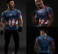 Wholesale Males Costume - Upgrade Compression Shirt Men 3D Printed T-shirts Raglan Long Sleeve Cosplay Costume Tops Male Crossfit fitness Clothing