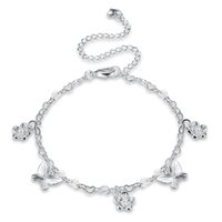 Wholesale Chain Girls Nice Foot - Fashion Jewelry Silver Plated Anklets Nice Sexy Simple Link Chains Anklet Ankle Foot Jewelry Gift with Pretty Charms for Women Ladies Girls