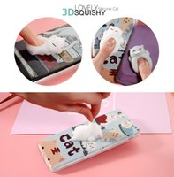 Wholesale Mobile Cover Cute - 3D Cute Cat Squishy Mobile Phone Case Squishy Case Soft Housing Case Kneaded Cover for iphone 7 7plus 6 6plus
