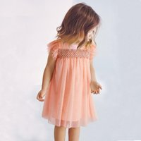 Wholesale Cute Casual Dresses For Winter - Robe Fille Enfant Toddler Girls Dresses Summer 2017 Brand Girls Princess Dress Cute Children Dress for Kids Cotton Girl Clothes