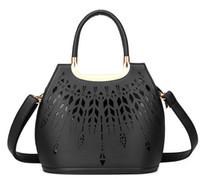 Wholesale Free Pink Design Handbag - women small handbag hollow out design saffiano tote bag high quality ladies shoulder messenger bags free shipping