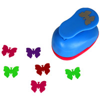Wholesale Diy Art Foam Craft - Wholesale- free shipping 1 inch butterfly design eva foam punch paper punches scrapbooking cutter hole punch craft punching for DIY artwork