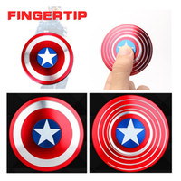 Wholesale luxury toys for men for sale - 2017 Luxury USA Man Shield Cake Style Hand Spinners Fidget Spinner Finger Spinning Top Gyro For Decompression Fingers Tops Novelty Gag Toys