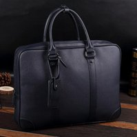 Wholesale Blue Trend Bag - Original brand package are multifunctional man portable computer bag simple bulk leather briefcase business trend all-match leisure bag