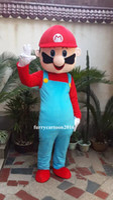 Wholesale Super Mario Costume Make - Brand New Custom Made Super Mario Bros Mascot Costume Free Shipping