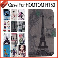 Wholesale Exclusive Cover - AiLiShi Hot!!! In Stock For HOMTOM HT50 Case Fashion Flip PU Leather Case Exclusive 100% Special Phone Cover Skin+Tracking