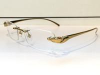 Wholesale Medusa Men - 8200875 Medusa Glasses Prescription Eyewear Vintage Frame Men Brand Designer Eyeglasses With Original Case Retro Design Gold Plated