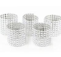 sandalye, düğün dekor kapakları toptan satış-Toptan-50 adet Gümüş Kapatma Peçete Halkaları Ile Kapakları Sandalye Sashes Düğün Doğum Günü Partisi Ev Dekorasyonu Için Yay Tutucu
