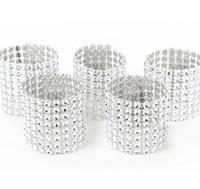 ingrosso la sedia copre l'arredamento di nozze-Wholesale- 50pcs coperture in argento con anelli di tovagliolo di chiusura Anelli telaio telai per la festa di compleanno di compleanno decorazioni per la casa