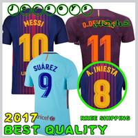 SUAREZ Jerseys 2017 2018 Camisas Neymar Messi INIESTA O.DEMBELE PIQUE  Soccer Jersey 17 18 Camiseta de futbol size S-4XL ... 621ff0d28