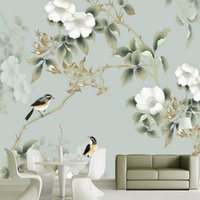 Wholesale flower wallpapers high quality - Custom 3d photo wallpaper wall paper High quality wallpaper 3d TV background covering flowers wall paper mural for living room