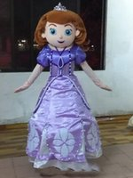 Wholesale Used Mascot Costumes - ems free shipping 2017 new Sofia the first mascot costume Sofia princess costume for kids party use