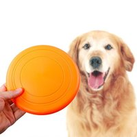 Wholesale Red Frisbees - Flying Disc soft Flexible Tooth Resistant Outdoor Large Dog Puppy Pets Training Fetch Toy Silicone Dog Frisbee