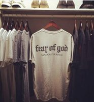 Wholesale god clothing - Fear Of God T Shirt Men Women Cotton FOG Justin Bieber Clothes Fearofgod t-shirts Nomad Top Tees Fashion Fear Of God T Shirt