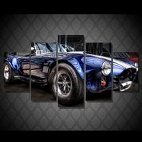 Wholesale Pictures Classic Cars - 5 Pcs Set Framed HD Printed classic car cabrio Painting Canvas Print room decor print poster picture canvas Free shipping ny-4945