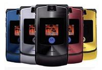 Wholesale Quad Panels - Refurbished Original MOTOROLA RAZR V3 V3i 2.2Inch Screen Quad Band 1.3MP Camera 710MAH Battery phone six color