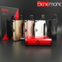 Venta al por mayor-Genuina Electrónica Cigarrillo Kanger CUPTI Starter Kit 75W TC 18650 Batería Mod Vape VS eVic VT VTV Mini Mini Kit VTwo
