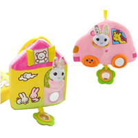 Wholesale Wholesale House Stuff - Wholesale- musical soft Baby Toys stuff stroller bed rattles house car Ring Bell Cute Cartoon Animal Plush creative Doll toys gift