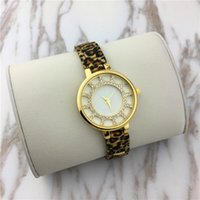 Wholesale Sexy Watches - Luxury Lady watches Men watch Leopard Stainless steel Women Wristwatch Female Clock Relojes De Marca Mujer Drop shipping 15pcs DHL free Sexy