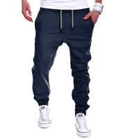 Wholesale casual dance baggy trousers - Wholesale- Mens Casual Jogger Dance Sportwear Baggy Harem Pants Slacks Trousers Sweatpants WD125 T45