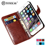 Wholesale I Phone Holders - Luxury PU Leather Case For iPhone 6 6S Wallet Cover Flip Coque With Card Holders i Phone Bag Cases for iPhone6 6 S Plus 6Plus