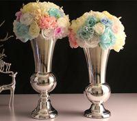 Wholesale decorative art vase online - 6pcs Metal vase wedding decoration home wedding ornaments activities decorative arts and crafts