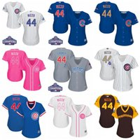 Wholesale Shirts Size 44 - 2017 Womens Chicago Cubs 44 Anthony Rizzo Baseball Jerseys Ladies Shirt White Blue Grey Pink Fashion Stitched Size S-XL