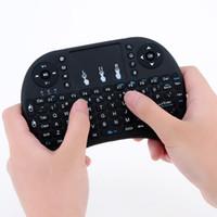 lecteur multimédia pour pc achat en gros de-20x Wireless Keyboard Mini i8 Air Mouse Lecteur multimédia Remote Control Touchpad pour Android Smart TV Box MXIII M8 MXQ MX3 Mini PC