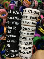 Wholesale E Cig Rings - Personalized silicone bracelet, 500pcs free customized silicone vape band ring, cheap rubber band 22mm beauty ring e cig