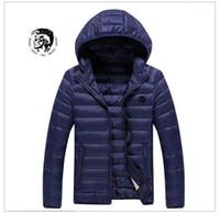 Wholesale Eiderdown Coat - Diesel brand men 's coat winter down jacket Best Quality adults hoodies 100% eiderdown 4 colors size M-3XL hot sell