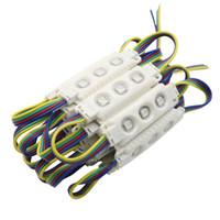 açılı modül toptan satış-5050 RGB Led Modülleri Su Geçirmez IP65 3 LEDs SMD 5050 Led Vitrin Işık 160 Açı + CE ROHS UL SAA
