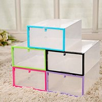Wholesale Clear Shoe Storage Boxes Drawer - Clear Transparent Drawer Case Plastic Shoe Boxes Storage Organizer Stackable Box