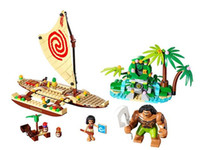 Wholesale Princess Building Blocks - 41150 Princess Moana Ocean Voyage Building Blocks Classic Friends for Girl Kids Model Toys For Children