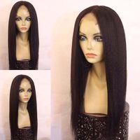 Wholesale Best Human Hair Yaki Wigs - Yaki Straight Wigs For Black Women Best Lace Wigs Full Wig Glueless Lace Front Wig Long Human Hair