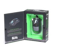 Wholesale Gaming Mouse Lights - Razer DeathAdder OEM Version Upgraded Gaming mouse 3500dpi Brand New laptop Game mouse Blue Green light wired usb mouse with retail Pack DHL
