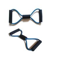 ingrosso forma di resistenza a banda-8 bande di resistenza di allenamento a forma di corda esercizio di allenamento del tubo per lo strumento di attrezzature fitness fitness corpo di sport libero ZA1944