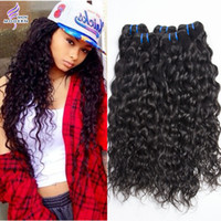 Wholesale Human Hair Extensions Processed - Wet and Wavy Brazilian Human Hair Bundles Unprocessed Brazilian Virgin Hair Extensions 10-30 Inch Curly Weave Human Hair