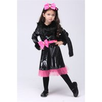 Wholesale Star Service - Children Kids Clothing Costumes Children Performance Suit Service Lovely Wild Cat Dress Dancing Skirt Cosplay Dress