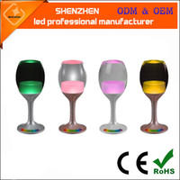 Wholesale Goblet Lamp - Creative glass desk lamp USB charging colorful Nightlight led bedroom hotel bar KTV atmosphere lamp glass goblet lamp with RGB