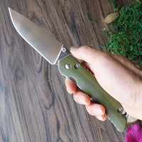 Wholesale G Start - Y-START Pocket Knife Camping Knives Tool Survival Fishing Folding Knife D2 Blade Green G10 Handle JIN01-G