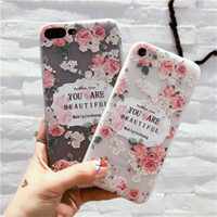 Wholesale Tpu Flower Rose - VOXLINK Silicone Case Cover with 3D Rose Flowers TPU Cute Soft Phone Cases for iPhone6 6s 4.7 inch