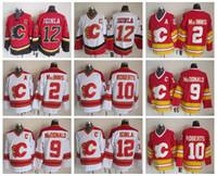 Wholesale jarome iginla jersey - Men 12 Jarome Iginla Jersey Calgary Flames 2 Al Macinnis 9 Lanny McDonald 10 Gary Roberts Vintage CCM Stitched Hockey Jerseys