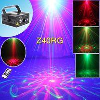 mini lazer sahne aydınlatma modelleri toptan satış-Sahne Lazer Projektör Işıkları Mini Taşınabilir IR Uzaktan RG 40 Desenler LED DJ KTV Ev Noel Partisi Dsico Gösterisi Sahne Aydınlatma Z40RG